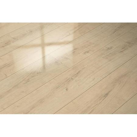 - Super Gloss Floor Plank Extra Sensitive Color Diamond Oak Wood Laminate Floor 20.66 Sq. F.