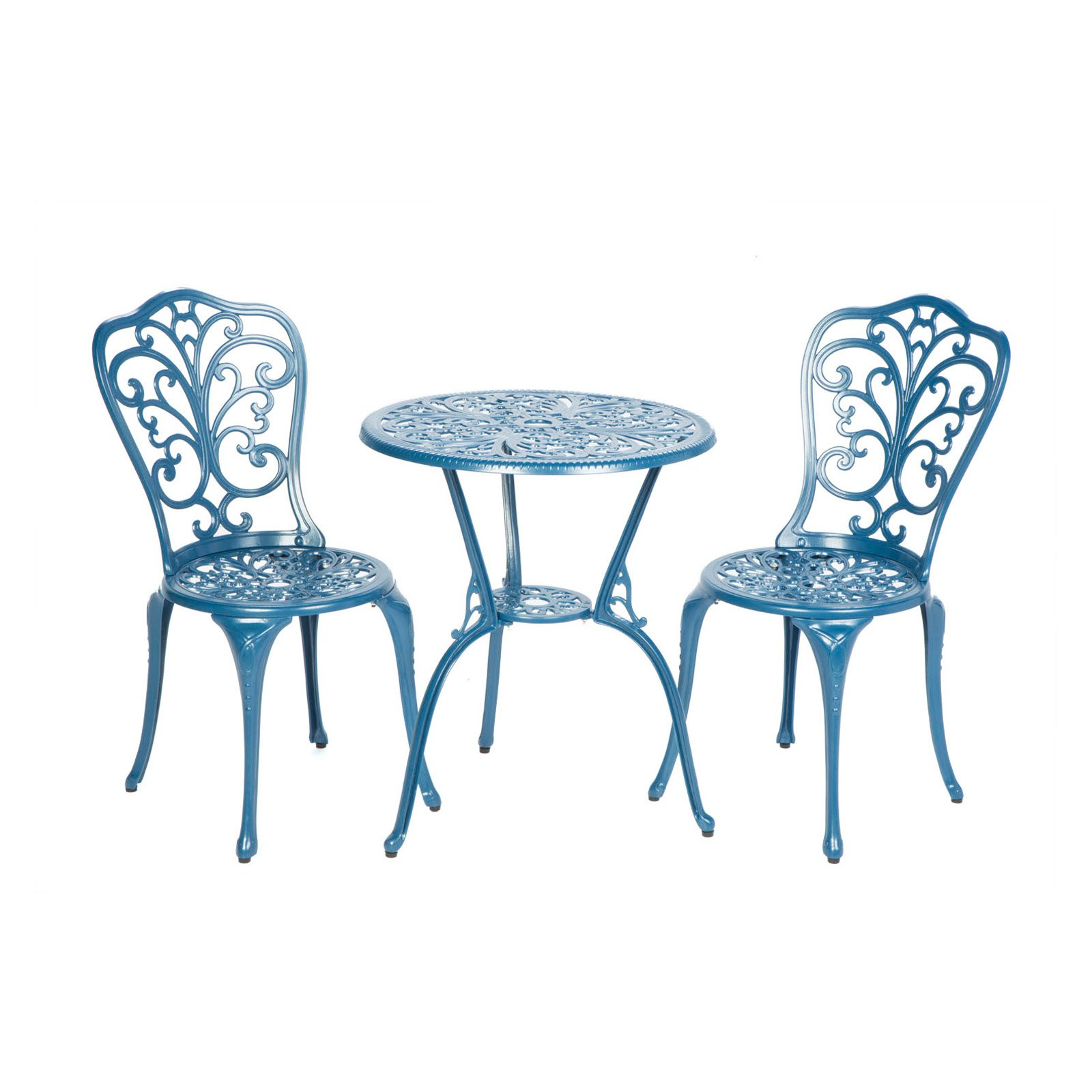 Alfresco Triora Cast Aluminum 3 Piece Bistro Set