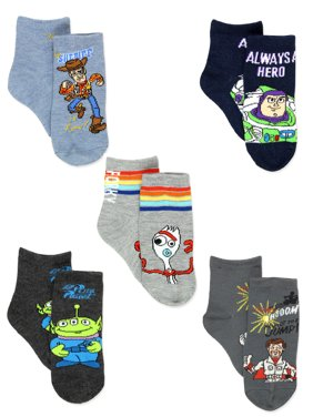 Disney Toy Story 4 Boys Girls Toddler 5 Pack Crew Sock Set EU062