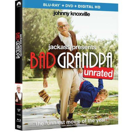 Jackass Presents  Bad Grandpa  Unrated   Blu Ray   Dvd   Vudu Digital Copy   Walmart Exclusive   With Instawatch   Widescreen