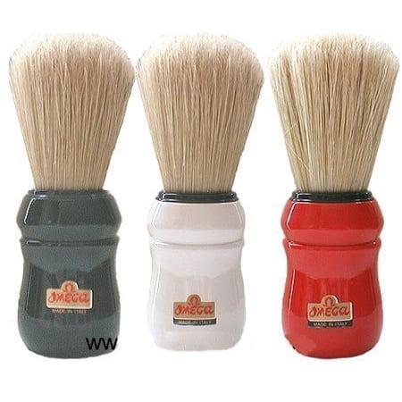 Boar Hair Shaving Brush (Black Handled Omega Professional Boar Hair Shaving Brush )