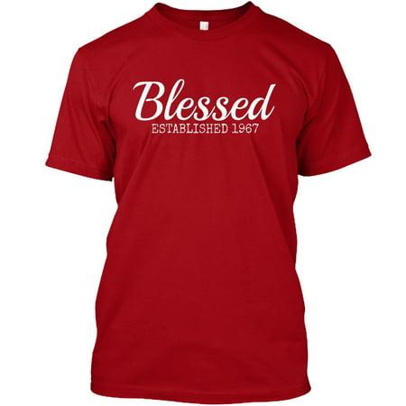 Blessed Christian 1967 Birthday Inspired Hanes Tagless Tee T-Shirt](Christian Birthday)