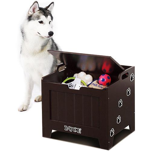 Homezone Pet Toy Storage Box   Brown