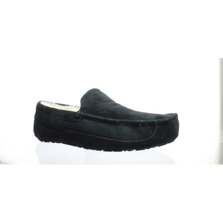 UGG Mens Ascot Black Suede Moccasin Slippers Size 17](Ugg Size Chart)