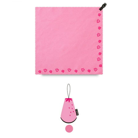 Microfiber Towel Ultra Absorbent Rapid Drying Antibacterial Travel Sports Towel Handkerchief w/ Compact Carry Pouch Bag (Great for Outdoors/Sports/Exercise/Hiking/Running) – 8x8in [Mini] [Pink]