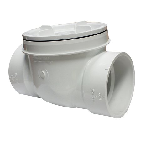- Canplas 223284W PVC Backwater Valve, 4-Inch, Protection against the backflow of sewage and storm water By Canplas CANPE