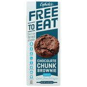(6 Pack) Cybel'S Free To Eat Chocolate Chunk Brownie Cookies, 5.4 Oz