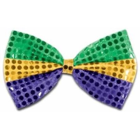 Mardi Gras Glitz N Gleam Bow Tie, 4PK (Mardi Gras Bow Ties)
