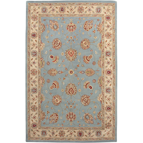 AMER Rugs Cardinal Light Blue / Ivory Clement Area Rug