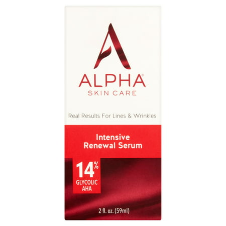 Alpha Skin Care - Intensive Renewal Serum 14% Glycolic AHA Real Results for Lines and Wrinkles Fragrance-Free and Paraben-Free - Bio Performance Intensive Skin Corrective