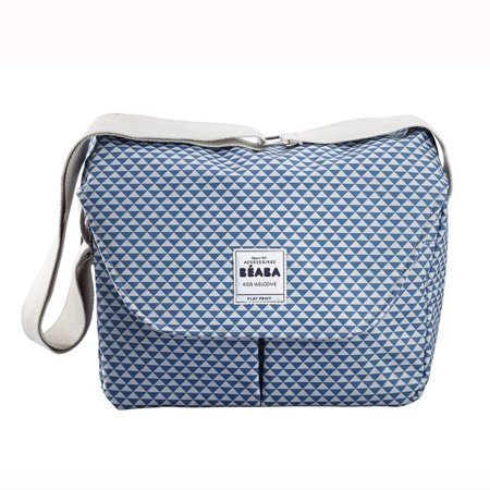 BEABA Vienna Diaper Bag, Blue Play Print
