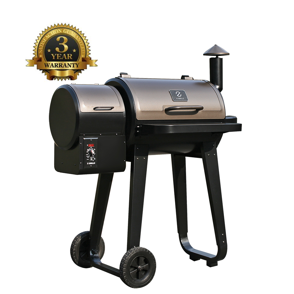 Z GRILLS Wood Pellet BBQ Grill and Smoker with Digital Temperature Controls (450 SQ. IN.)