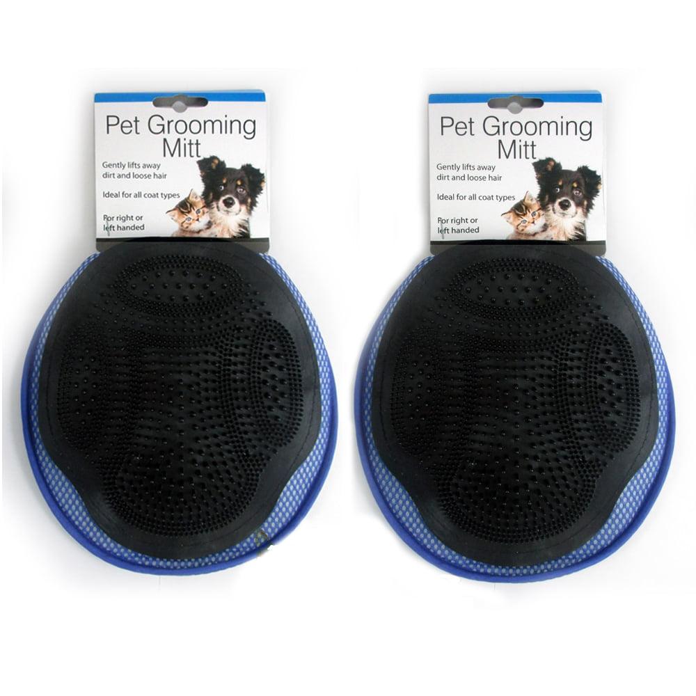 2 Pet Grooming Mitt Massage Bath Glove Cat Dog Rabbit Comb Soft Clean Scrubber
