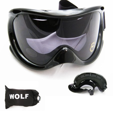 Black Ski Goggles Snowboard Glasses Skiing Sun Sports Adult Man Woman Lens Snow](Black Wolf Halloween Contact Lenses)