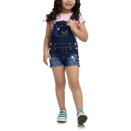 Toddler Girl Denim Shortalls - Chucky Overalls For Toddlers