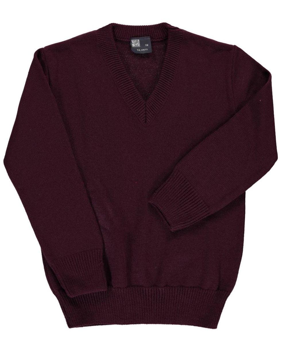 T.Q. Knits Big Boys' Control-Pil V-Neck Sweater (Sizes 8 - 20)