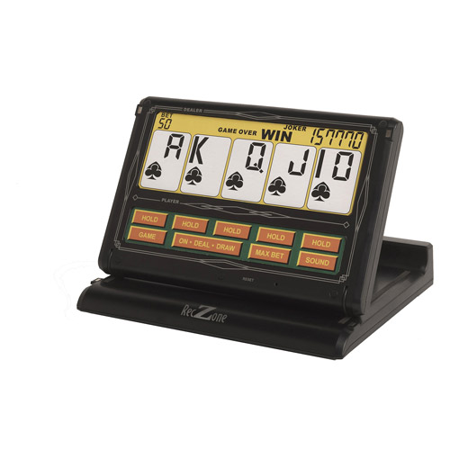Rec Zone Classic Games Collection Portable Touchscreen 7-in-1 Video Poker