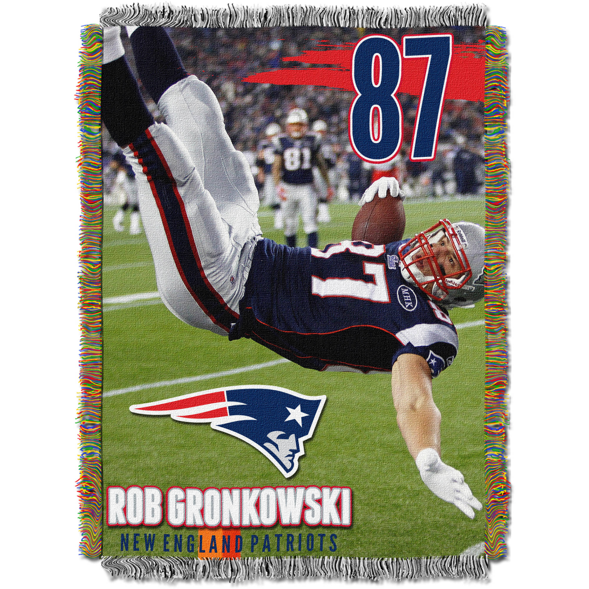 "NFL 48"" x 60"" Players Series Tapestry Throw, Rob Gronkowski"