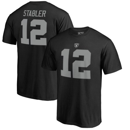 Ken Stabler Oakland Raiders NFL Pro Line by Fanatics Branded Retired Player Authentic Stack Name & Number T-Shirt - Black