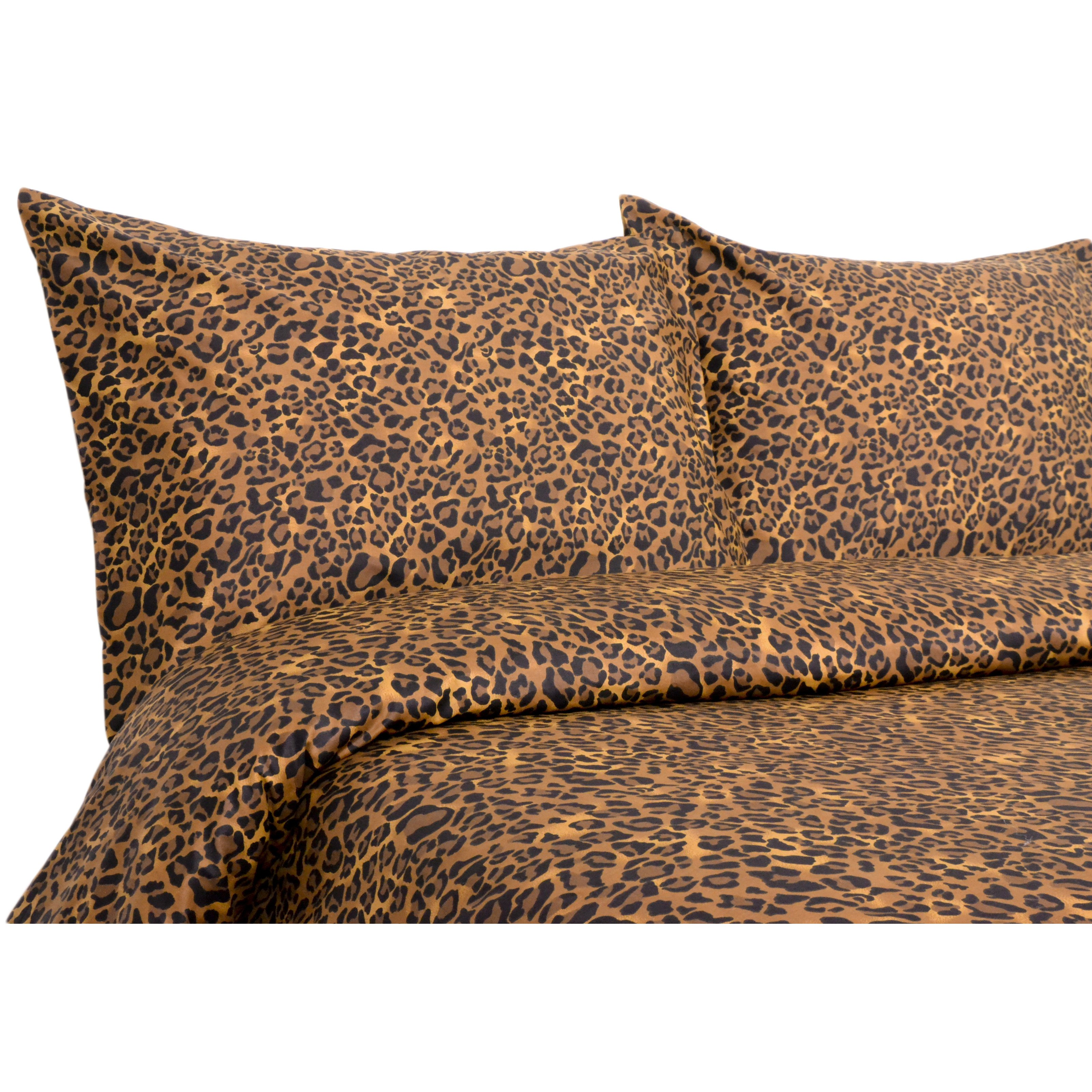 Elite Home 300 Thread Count Leopard Bedding Set