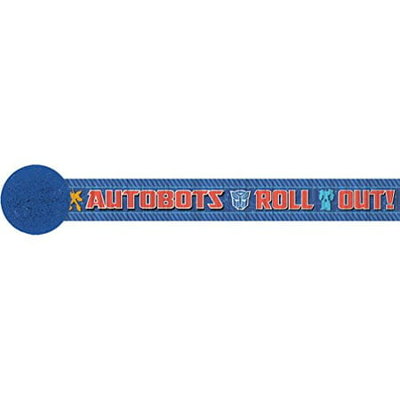 Transformers Core Children's Party Crepe Streamer-1 roll (Transformers Party)