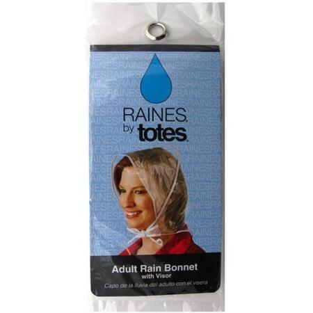 2 Pack - Totes Raines Adult Size Rain Bonnet with Visor 1 ea