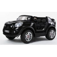 Copy of Limited Edition 2 Seats Convertible Cooper 12v Ride on Car, Toy for Kids with Remote Control, Music, Lights, Leather Seat