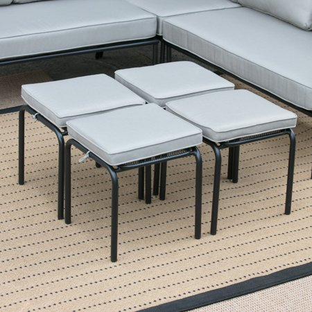 Belham Living Parkville Metal Ottomans with Seat Cushion - Set of 4 Ottoman Seat Cushion