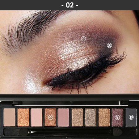 Focallure 10 Colors Naked Eye Shadow Palette Eyeshadow Shadow Shade for Eyebrows Makeup Set Nude Eyeshadow Palette Maquiagem -2