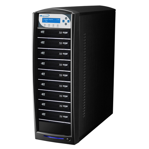 SHARKBLU BLU-RAY BDXL DVD CD USB 1:9 TOWER DUPLICATOR COPIER HDD