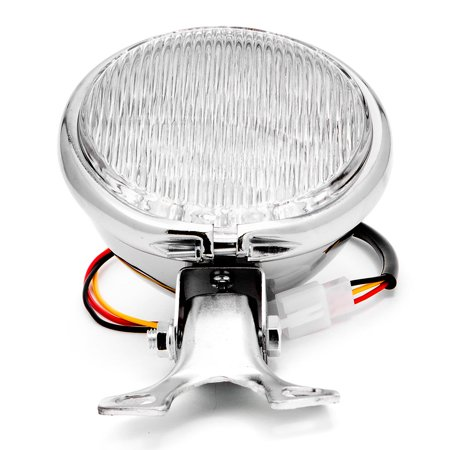 "Krator 5"" Chrome LED Headlight w/ Light Mounting Bracket for Yamaha Raider S XV 1900 XV1900 - image 1 of 7"
