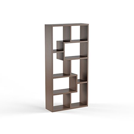 ModHaus Living Modern Transitional Wood Display Cabinet with 8 Shelves - Includes Pen (Wood Pen Display)