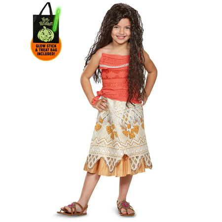 Disney Princess Moana Classic Child Costume Treat Safety Kit - Safety Costume