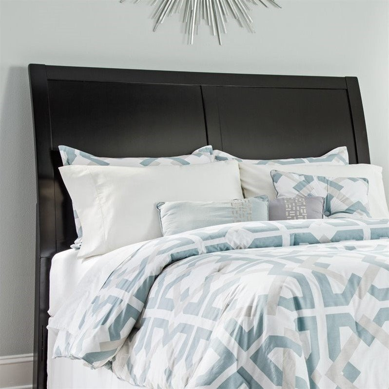 Ashley Braflin Wood Sleigh Headboard in Black