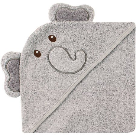 24391d218 Luvable Friends Cotton Terry Animal Hooded Towel, Elephant - Walmart.com
