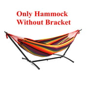 2-Person Double Hammock Chair w/Bracket & Carrying Case For Outdoor Camping Travel Beach And Indoor Use