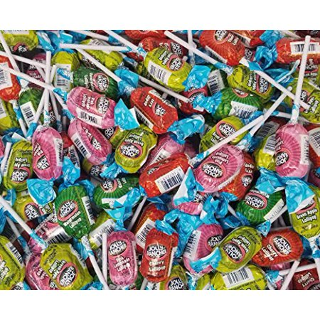 Jolly Rancher Assorted Fruit Flavored Lollipops Candy, Original Long Lasting Pops Cherry, Watermelon, Green Apple, Pink Lemonade Flavors, Bulk 3 Pounds Bag](Bulk Lollipops)