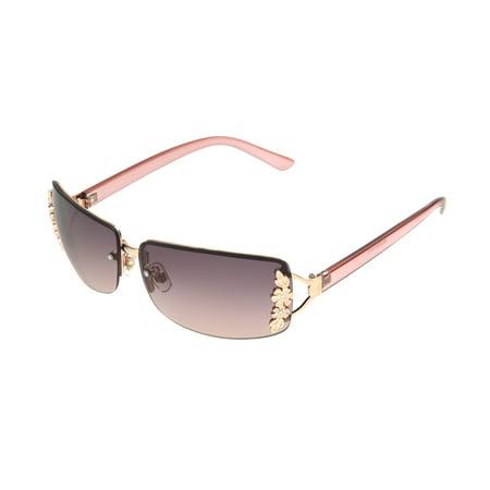 Rose Gold Metal Sunglasses (Foster Grant Women's Rose Gold Rectangle Sunglasses U10)