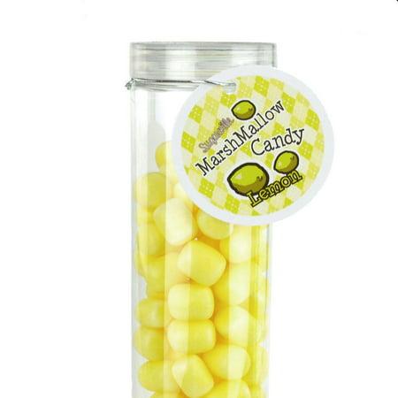Marshmallow Candy Plastic Tube Party Favor, 200-gram, 12-Inch, Lemon](Halloween Party Marshmallow Pops)