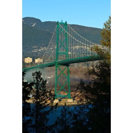 British Columbia Vancouver Lions Gate Bridge Poster Print By Rick A Brown