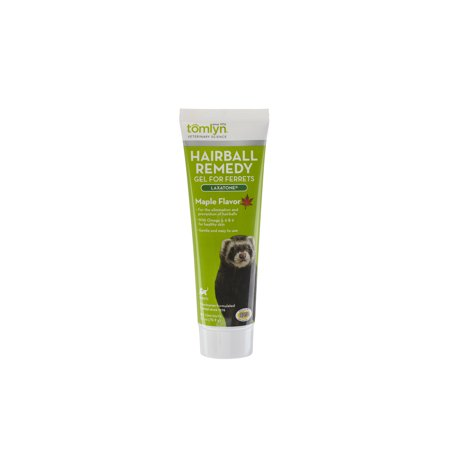 - Tomlyn Laxatone Hairball Remedy Supplement for Ferrets, Maple Flavor, 2.5 oz.