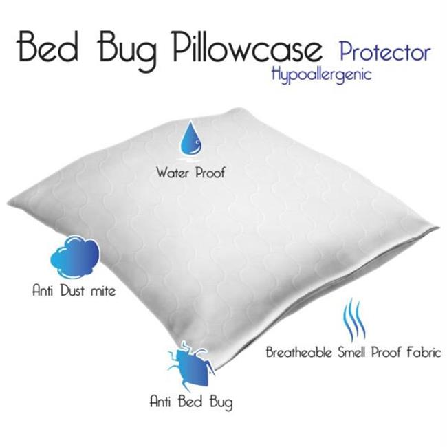 Remedy Cotton Bed Bug and Dust Mite Pillow Protector-Set of 2