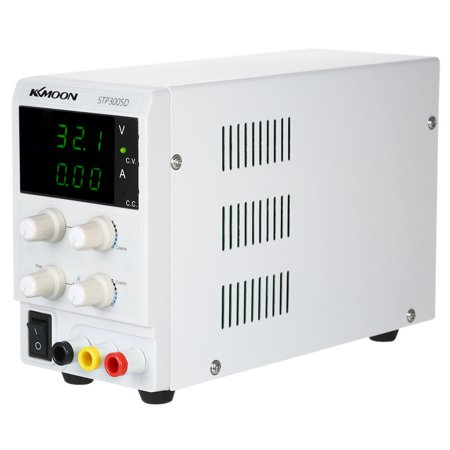 KKmoon Regulated DC Power Supply Switching Power 3 Digits Display LED 0-30V 0-5A High Precision Adjustable Mini Power Supply AC 220V ()