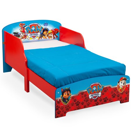 Delta Children Nick Jr. PAW Patrol Wooden Toddler Bed, Red