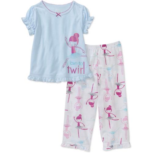 Child of Mine by Carters Baby Girls' 2-Piece Dancer Twirl Short Sleeve Pajama Set