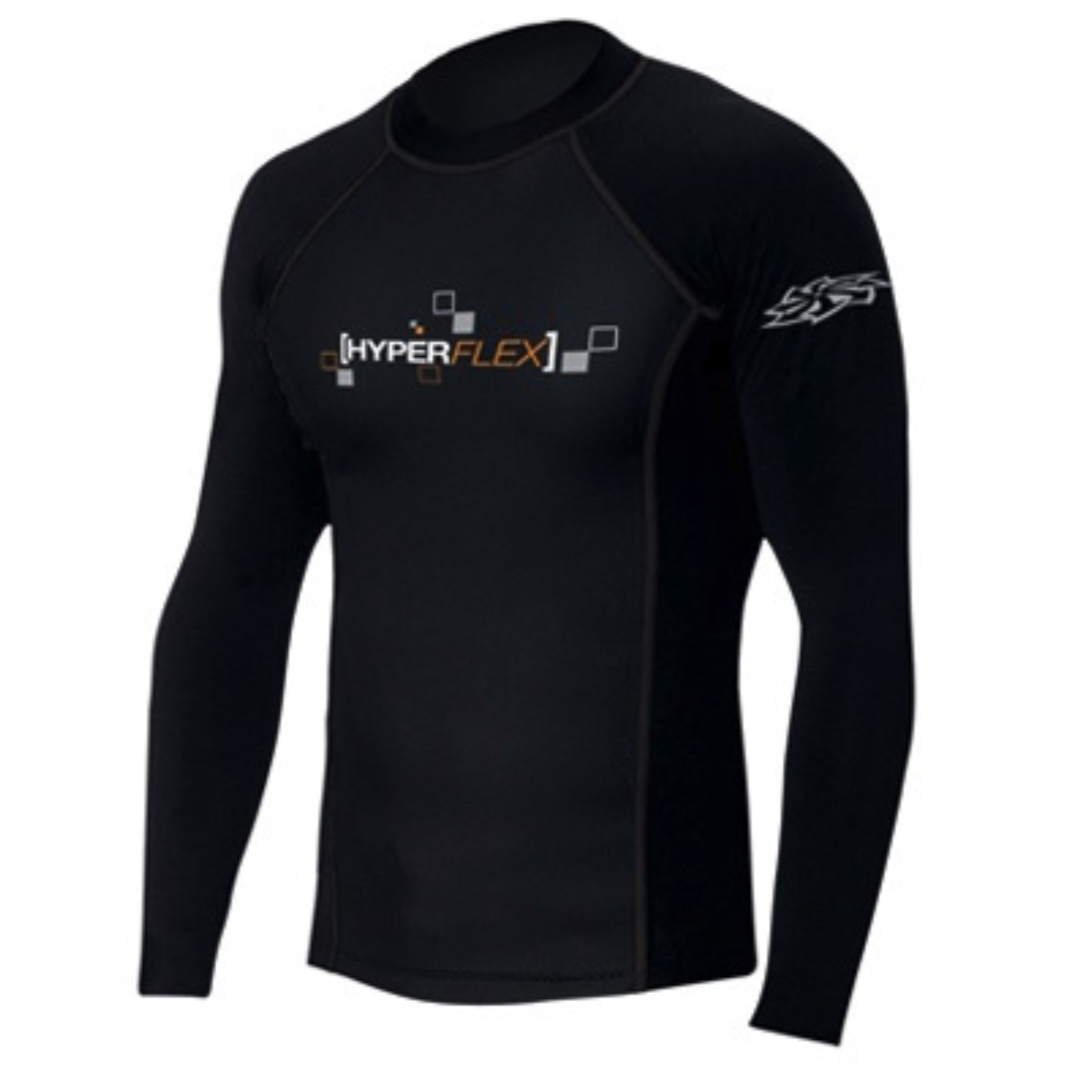 Hyperflex Polyolefin Long Sleeve 50-50 Loose Fit Rash Guard - BK - L