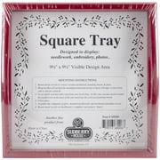 Red Small Square Tray 10 Inch X 10 Inch-Design Area 9.5 Inch X 9.5