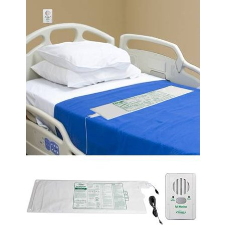 Easy-to-Use Bed Exit Alarm With Corded Weight-Sensing Bed Pad (10inx30in) System
