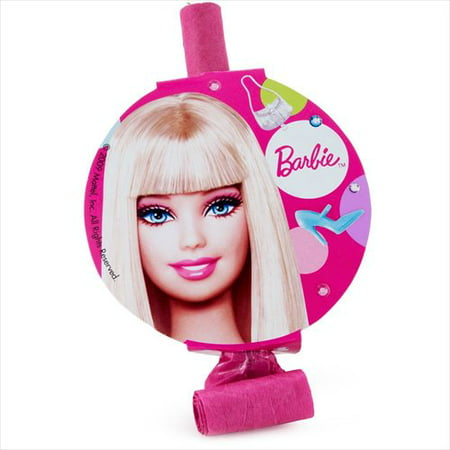 Barbie 'All Doll'd Up' Blowouts / Favors (8ct)](Barbie Silhouette Party Supplies)
