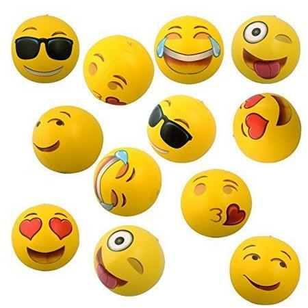 Emoji Beach Balls - 12